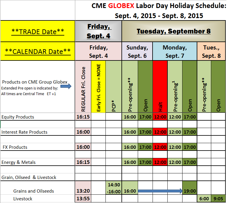 Labor Day Hours;