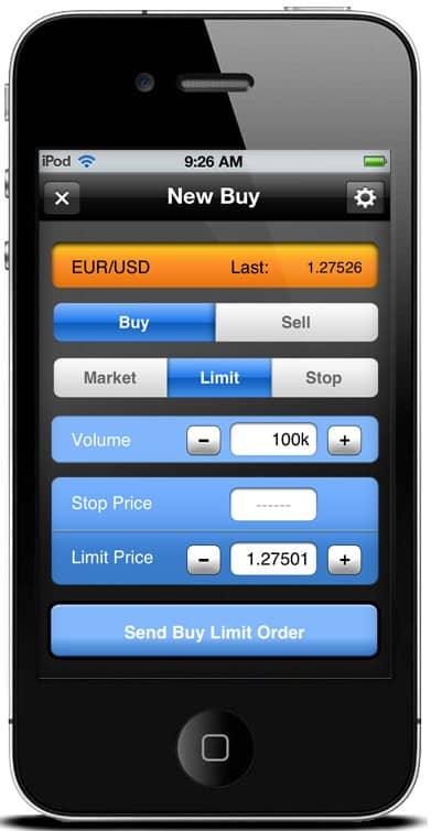 iBroke Mobile Trading Platform - New Buy